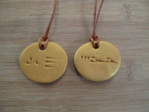 Custom Made Cuneiform Pendents.