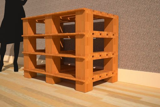 Custom Made 6 Block Style Display Shelf