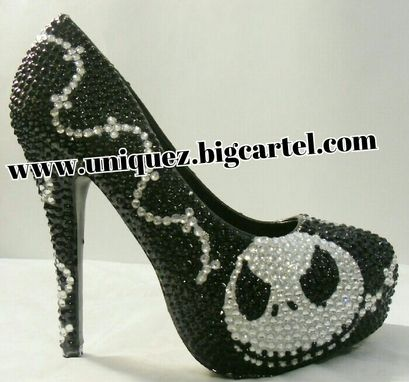 Custom Made Nightmare Before Christmas Heels (Jack Skellington 4 Inch Pumps)