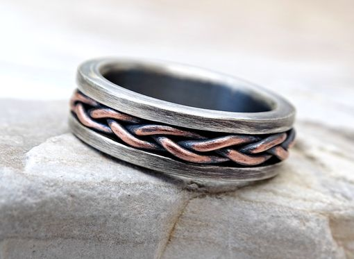 Buy A Hand Crafted Viking Wedding Band Braided Ring Two