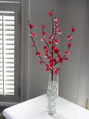 Custom Made Origami Paper Cherry Blossom Flowers-Red