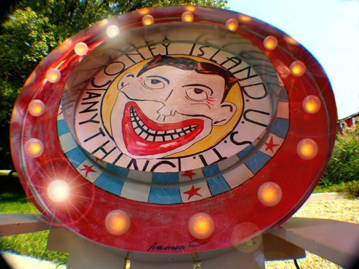 Custom Made Vintage Marquee Letter Lights Sign Coney Island Clown Arrow Or Any Symbol 36 X36x 4