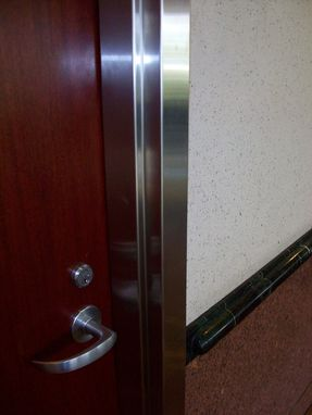 Custom Made Stainless Steel Cladding Of An Existing Door Frame