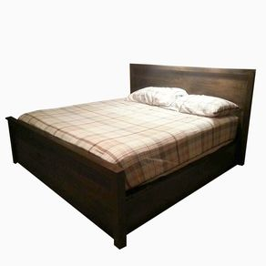 storage platform bed by the strong woodshop