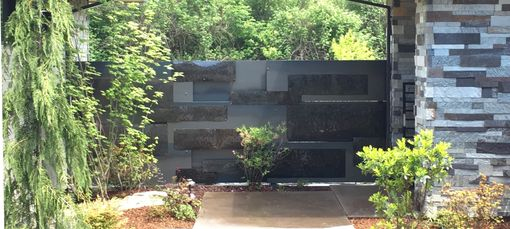 Custom Made Decorative Steel Wall With Accents
