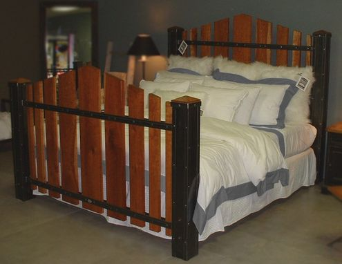 Custom King Size Iron And Cherry Wood Bed The Majestic By