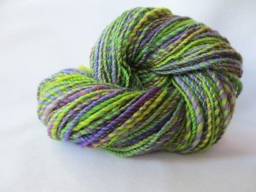 Custom Made Handspun Yarn/ Hand Spun Hand Dyed/ Handspun Purple Variegated/ Hand Spun Wool/ Handspun Yarn Ball
