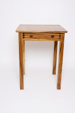 Custom Made Zebra Wood Side Table