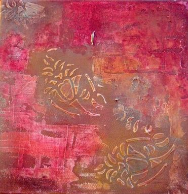 "Custom Made Modern Abstract Painting Textured - 8""X16"" Rust Brown Ochre By Devikasart"