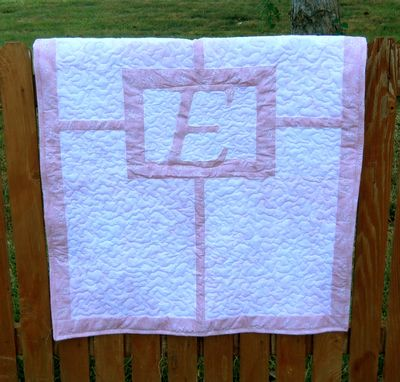 Custom Made Monogram Baby Quilt