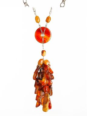Custom Made Custom  Celebrity Carnelian Cluster Necklace