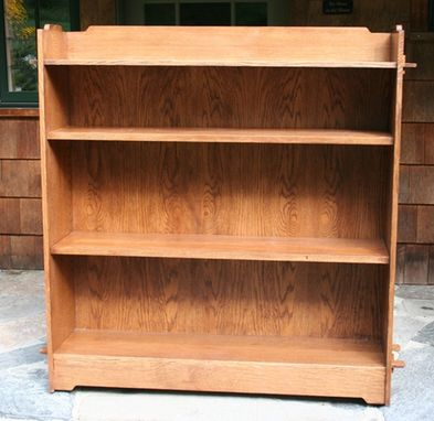 Custom Made Large Arts & Crafts Bookcase - Greene And Greene Influenced