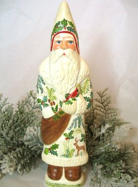 Custom Made Belsnickle Santa  Handcrafted From An Antique Chocolate Mold