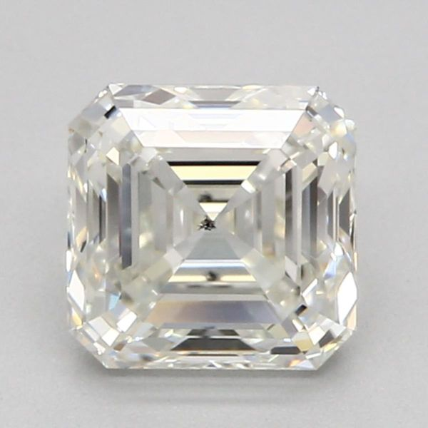 Asscher cut — average at hiding color tint.