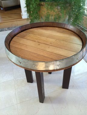 Custom Made Whisky-Barrel Top Coffee Or Deck Table