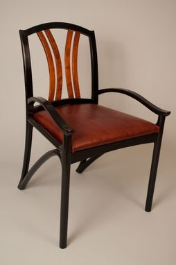 Custom Made Custom Designed Black Lacquer Chair