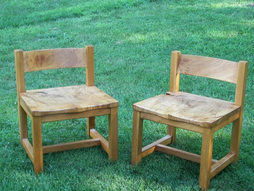 Custom Made Maple Burl Chairs