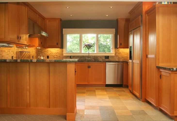 Hand crafted custom cabinetry douglas fir kitchen cabinets by honore cabinetry - Custom made kitchen cabinets ...