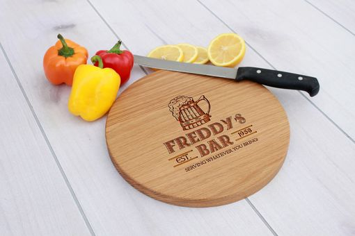 Custom Made Personalized Cutting Board, Engraved Cutting Board, Custom Wedding Gift – Cbr-Wo-Freddy's Bar
