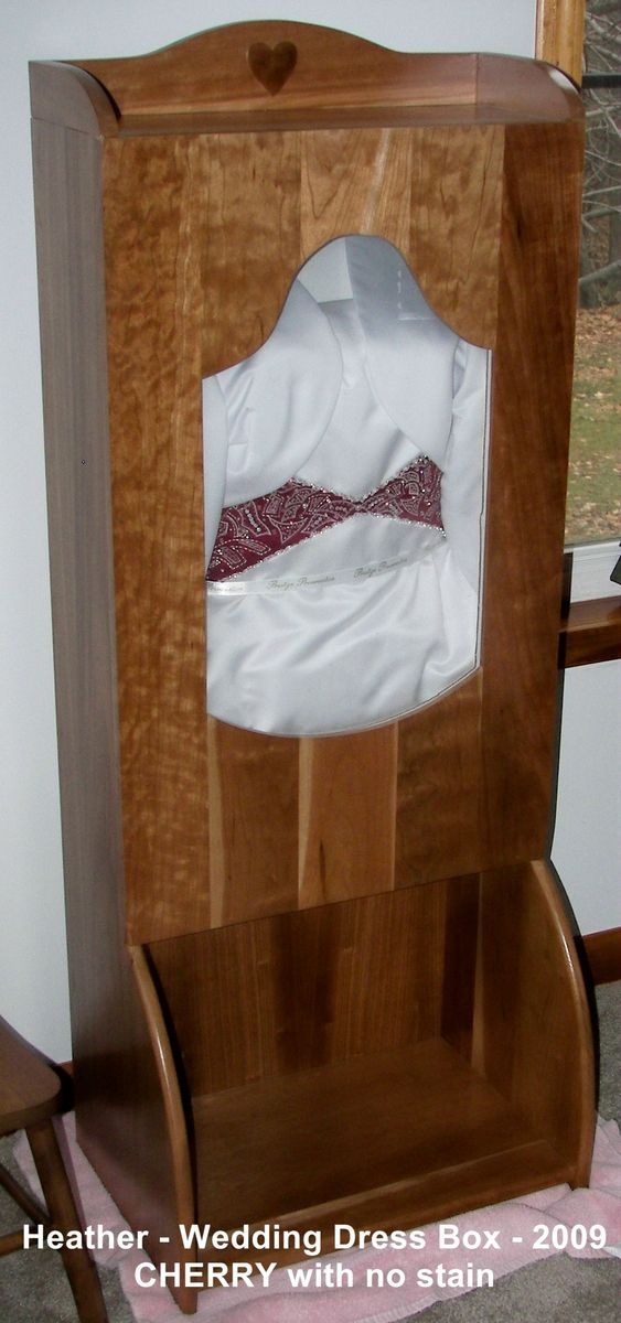 Custom Wedding Dress Display Case by Clayton Road Woodworking ...