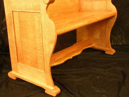 Custom Made Church Style Oak Pew Benches
