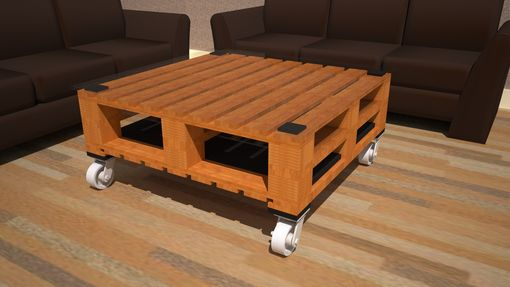Custom Made Mobile Coffee Table In 2 X 2 Style