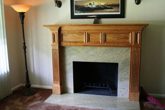 Custom Made Fluted Minneapolis Wood Mantel By Accolade Fireplace