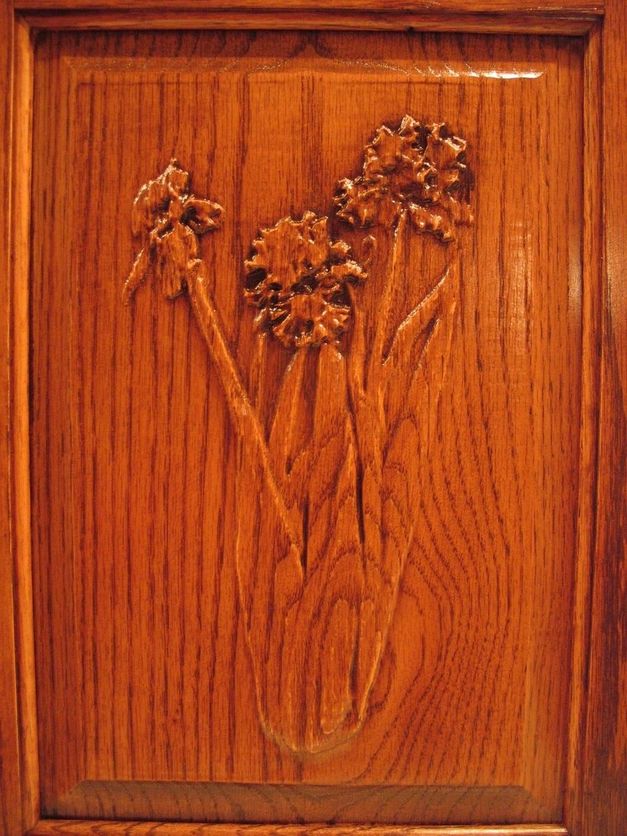 Hand Made Flower Carvings On Cabinet Doors. by Whittled In Wood ...