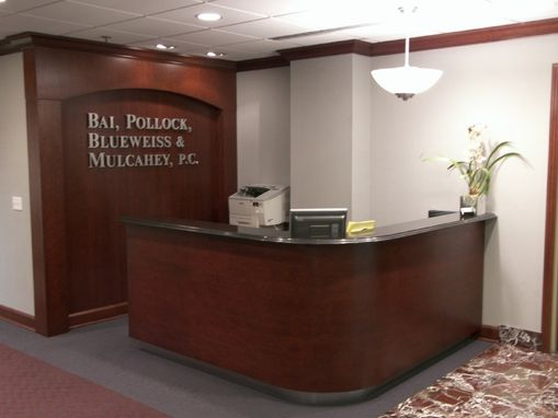 Hand Made Reception Desk Library And Conference Room By