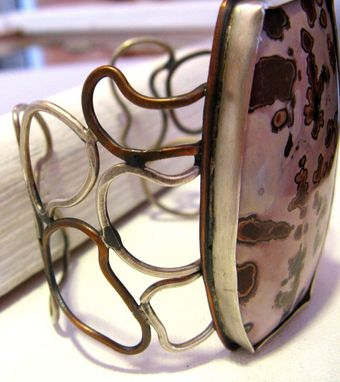 Custom Made Statement Silver And Copper Magnesite Cuff