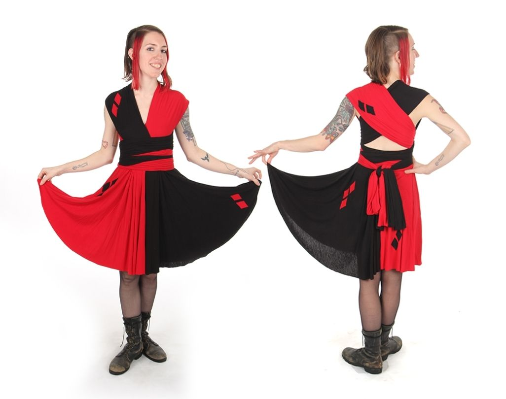 harley quinn wedding dresses harley davidson wedding dresses Custom Supervillain Convertible Dress Inspired By Harley Quinn