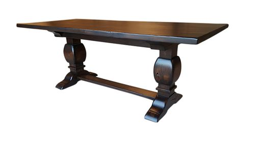 Custom Made Rustic Alder Trestle Table