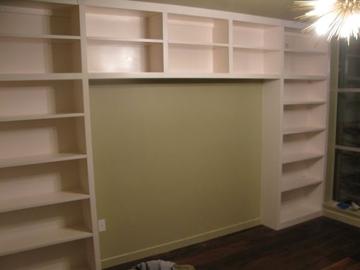 Custom Made Wall To Wall Library Shelving