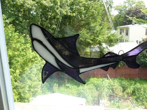 Custom Made Custom Shark Stained Glass Light Catcher