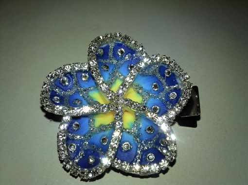 Custom Made Two Tone Blue Plumeria