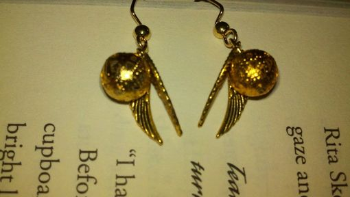 Custom Made Sale Harry Potter Inspired Golden Snitch Earrings (Style 2), Ready To Ship