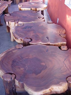 Custom Made Blackwood Slab Tables