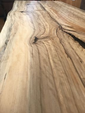 Custom Made Live Edge Figured Gum Coffee Table
