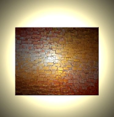 Custom Made Original Abstract Gold Painting, Palette Knife Art, Original Bronze Metallic Textured - 36x48