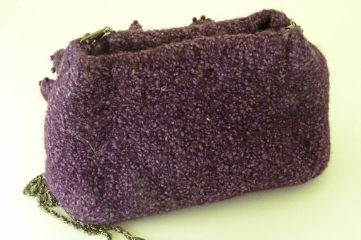 Custom Made Passionate Purple Evening Bag With Chain