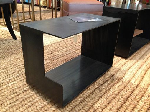 Custom Made Szk Metals Modern Minimalist Metal End Table / Coffee Table