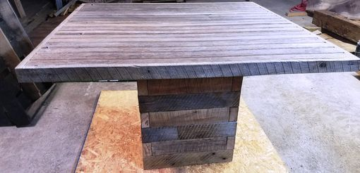 Custom Made Reclaimed Pedestal Table
