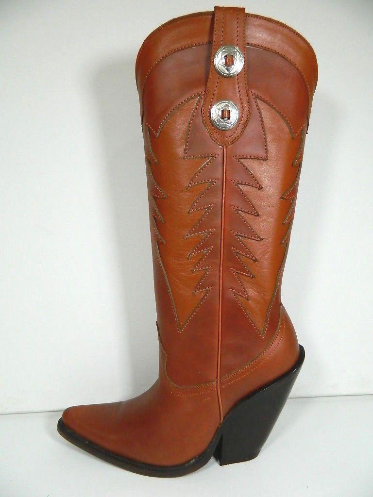 handmade cowboy boots saddle inlayed decorative design