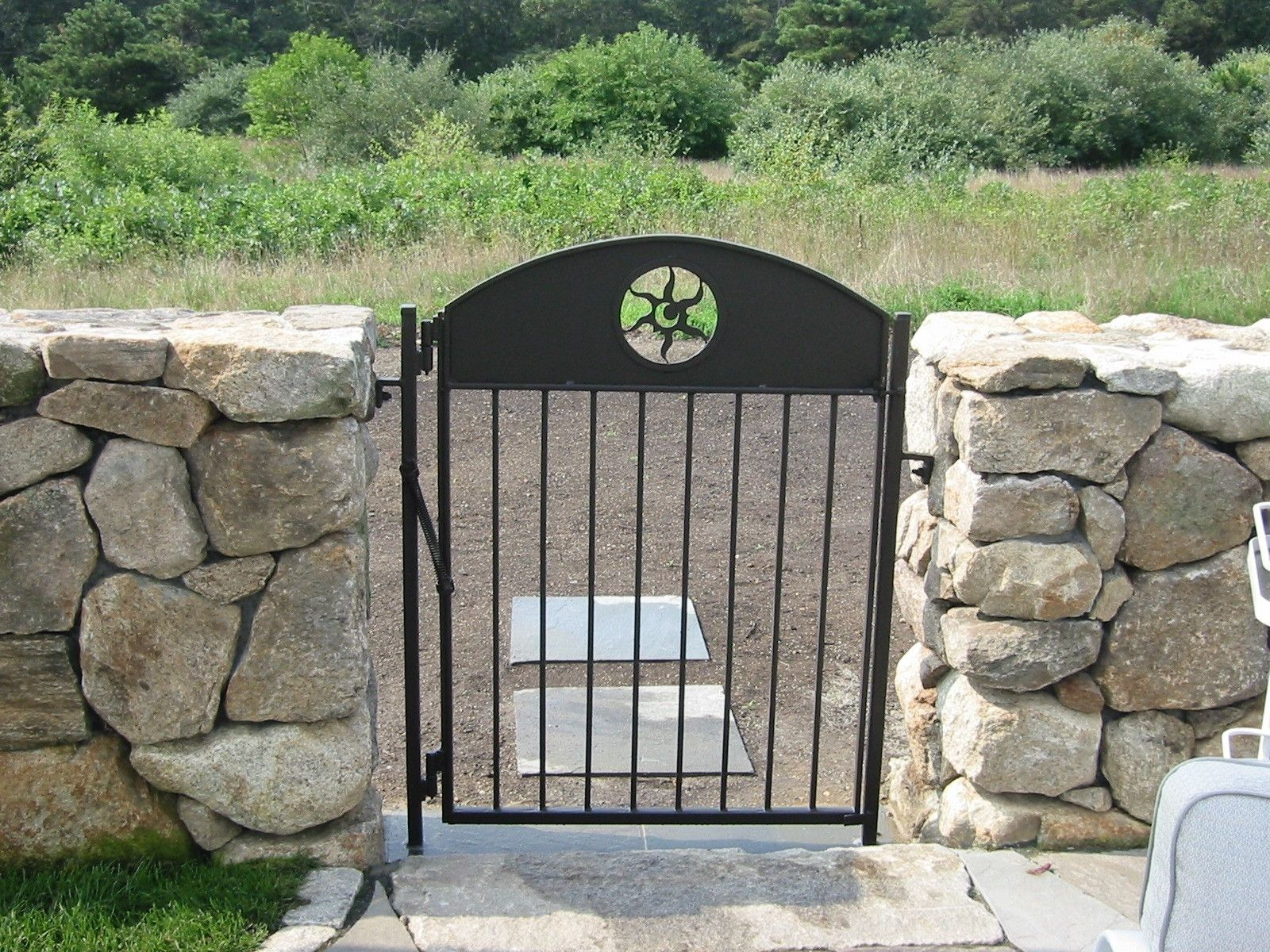 Hand made custom wrought iron pool garden gates by