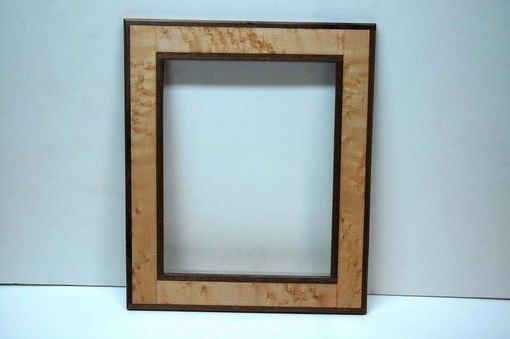 Custom Made Birdseye Maple W Walnut Trim Wall Picture Frame