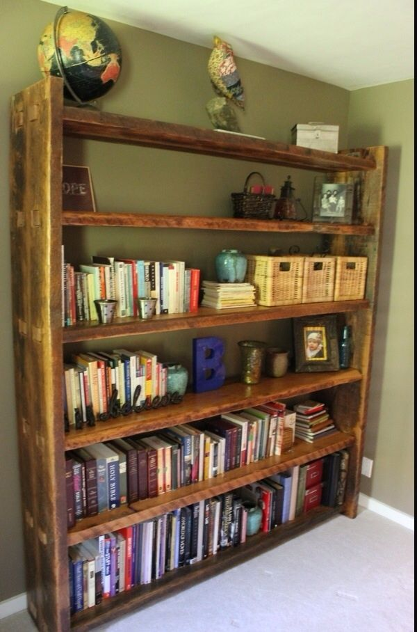 Hand Made Rafter Bookcase By Ross Alan Reclaimed