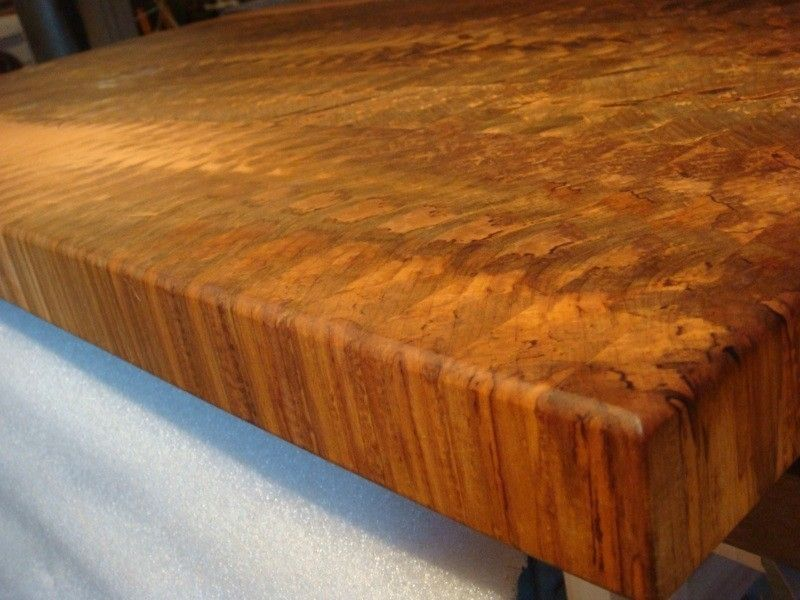 Hand Made Spalted Maple End Grain Butcher Block Island Top  : 26315146052 from www.custommade.com size 800 x 600 jpeg 74kB