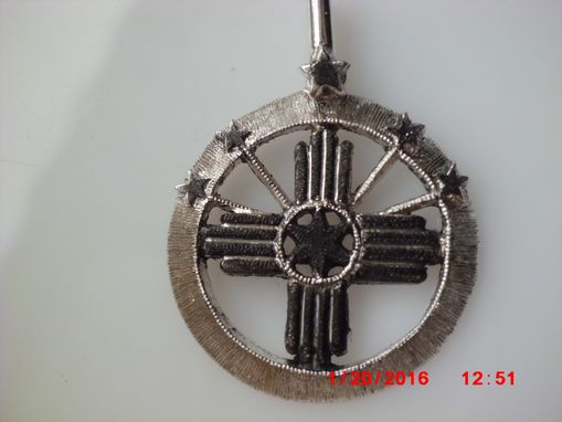 Custom Made Sterling Saw-Pierced And Carved 25cent Size Pendant Customers Design