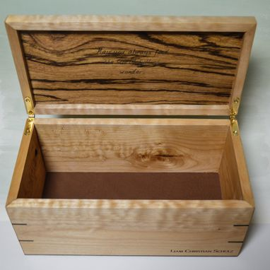 Custom Made Engraved Keepsake Box Zero Toxin