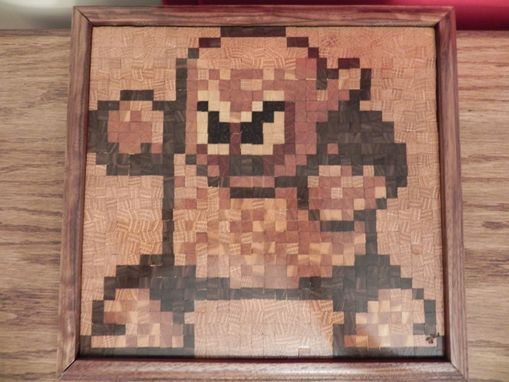 Custom Made Wood Man 8 Bit  Mosaic (Mega Man Villain)